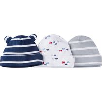 Gerber Chidrenswear Newborn Boys' Baby Cap - Pack of 3 Navy Newborn