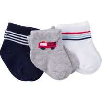 Gerber Chidrenswear Boys' Jersey Ankle Socks - Pack of 3 Navy