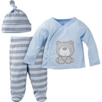 Gerber Chidrenswear Newborn Boys' 3-Piece Take-Me-Home Set 0-3 months