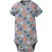 Onesies® Brand Newborn Boys' Fashion Short Sleeve Bodysuit Gray 3-6 months