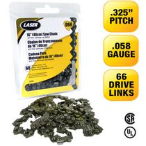LASER Saw Chain .325-058 66 Drive Links