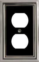 Atron Electro Industries Estate Black on Chrome Duplex Wall Plate