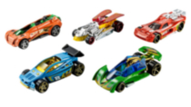 Ens. de 5 voitures Hot Wheels