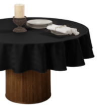 Nappe de table rayé en microfibre de Decolin Canada Inc. Noir 70in ronde