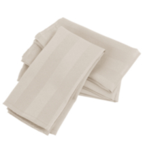 Striped Microfiber 4 Pack Napkins White