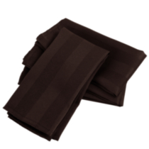 Serviettes de table en microfibre -paquet de 4 Brun