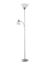 Floor Lamp with Reading Light Silver