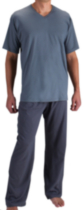 Fruit of the Loom Mens Short-Sleeve V-Neck Lounge Set L