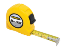 "Stanley 8m/26' x 1"" Tape Rule (Metric/English Scale) - 30-456CP"