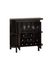 "Monarch Cappuccino 36""H Bar Unit With Bottle And Glass Storage"
