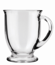 Glass Café Mug 16 oz Crystal