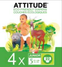 ATTITUDE Eco-Friendly Diapers Case (Choose Your Size) Size 5