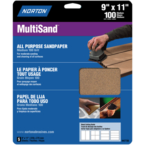 "All Purpose Sandpaper 9""x11"" Medium Grit"