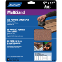 "All Purpose Sandpaper 9""x11"" Assorted Grits"