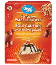 Bols gaufrés de Great Value