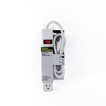 Woods Industries Power It! Power Strip, 2.5' Cord