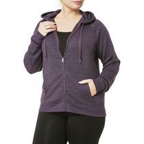 Danskin Now Women's Plus Size Hoodie Purple 2X