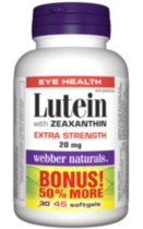 Webber Naturals® Lutein with Zeaxanthin, Extra Strength, 20 mg