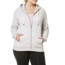Danskin Now Plus Size Women's Signature Hoodie Beige 3X