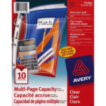 Avery® Multi-Page Capacity Sheet Protectors, 75302, Diamond Clear, Acid Free, Pack of 10