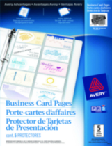 Avery® Business Card Pages Tabbed Pack of 5