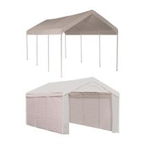 Max AP 10 ft. x 20 ft. 2-in-1 Canopy with  White Cover Enclosure Kit