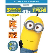 Despicable Me 3-Movie Collection: Despicable Me / Despicable Me 2 / Minions (Blu-ray + DVD + Digital HD) (Bilingual)