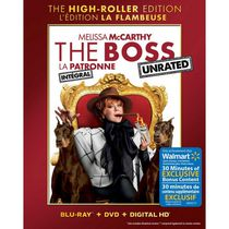 The Boss: The High-Roller Edition (Unrated) (Blu-ray + DVD + Digital HD + Bonus Disc) (Walmart Exclusive) (Bilingual)