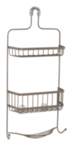 Hometrends Premium Over the Shower Caddy, Satin Nickel