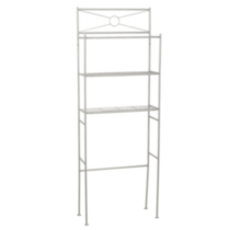 Hometrends Cross Style Metal Spacesaver, 3 Shelf, Satin Nickel