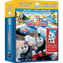 Thomas & Friends: The Great Race (Blu-ray + DVD + Digital HD + Thomas Mini-Train) (Walmart Exclusive)