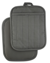 Hometrends Potholder with Silicone Grey