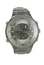Harve Benard Men's Gun Metal Analog-Digital Bracelet Watch with Gun Metal Dial