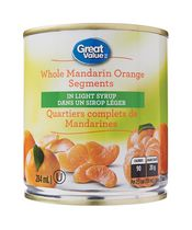 Great Value Whole Mandarin Orange Segments