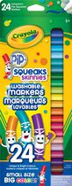 Crayola 24 Thin Tip Washable Pip Squeak Markers