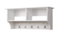"36"" Wide Hanging Entryway Shelf White"