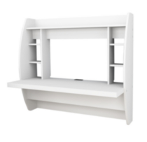 Prepac Floating Desk with Storage White