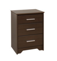 Coal Harbor Tall 3-Drawer Night Stand Dark Brown