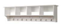 "60"" Wide Hanging Entryway Shelf White"