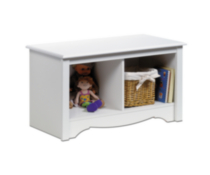 Twin Cubbie Bench White