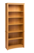 Sonoma 6 Shelf Bookcase Maple