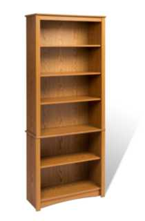 Sonoma 6 Shelf Bookcase Chene