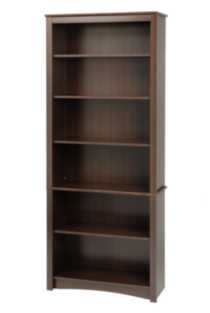 Sonoma 6 Shelf Bookcase Dark Brown