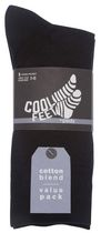 Cool Feet Men's 5 Pack Cotton Blend  Socks