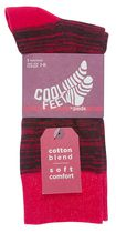 Cool Feet Men's Random Crew Socks Red
