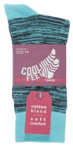 Cool Feet Men's Random Crew Socks Green