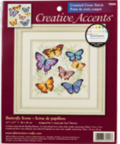 Dimensions Crossstitch Butterfly Scene