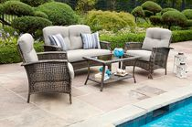 hometrends Tuscany 4 Piece Conversation Set - Grey