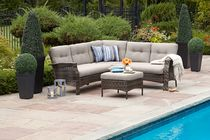 hometrends Tuscany 4 Piece Sectional Set - Grey