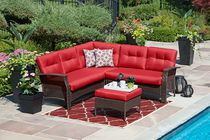 hometrends Tuscany 4-Piece Sectional Set - Red